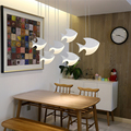 Светодиодный современный подвесной светильник из кованого железа + акриловый подвесной светильник для ресторана