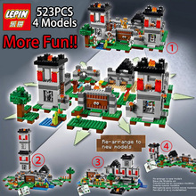LEPIN 4models 523pcs My world Minecraft Building Blocks Bricks Toys For Children Gift