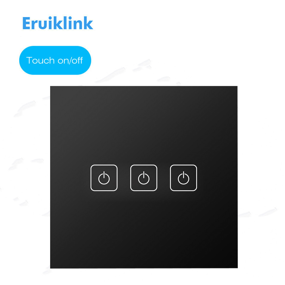 Interruptores e Relés padrão da ue/uk eruiklink interruptor For Led or Energy Saving Bulb : Power Load Less Than 100w/gang