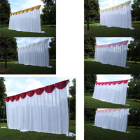3X6M White Wedding Backdrop Curtain With Swag Pleated For Wedding Event&Party&Banquet Decoration(Lycra Chair Cover)