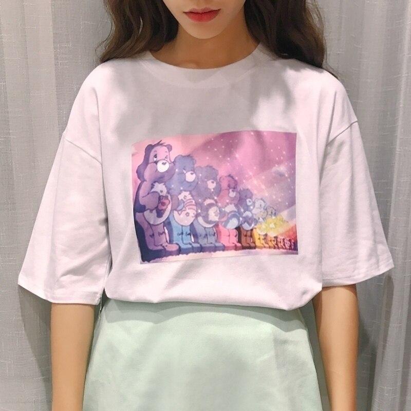 Футболка с принтом kuakuayu HJN, хлопковая футболка с коротким рукавом для женщин