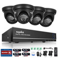 SANNCE 4CH  4 in 1 TVI AHD HDMI DVR 1.0 MP IR Outdoor Weatherproof CCTV Camera  Home Security System Surveillance Kits