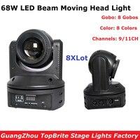 8Pcs Lot 68W High Bightness Led Moving Head Beam Lights DMX512 DJ Disco Equipments Mini Led