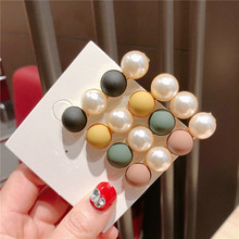 F173 Korea Fashion Metal Hairpins Imitiation Pearl Colorful Beads Hair Clips Hairstyle Design Accessories Hairpin For Women