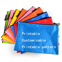 Canvas file bag with football-shaped lines   information pack   file bag with zippers  customized printing logo advertisement