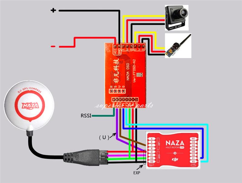 mini fpv n1/ n2 /n3 osd module for dji naza v1 v2 naza lite