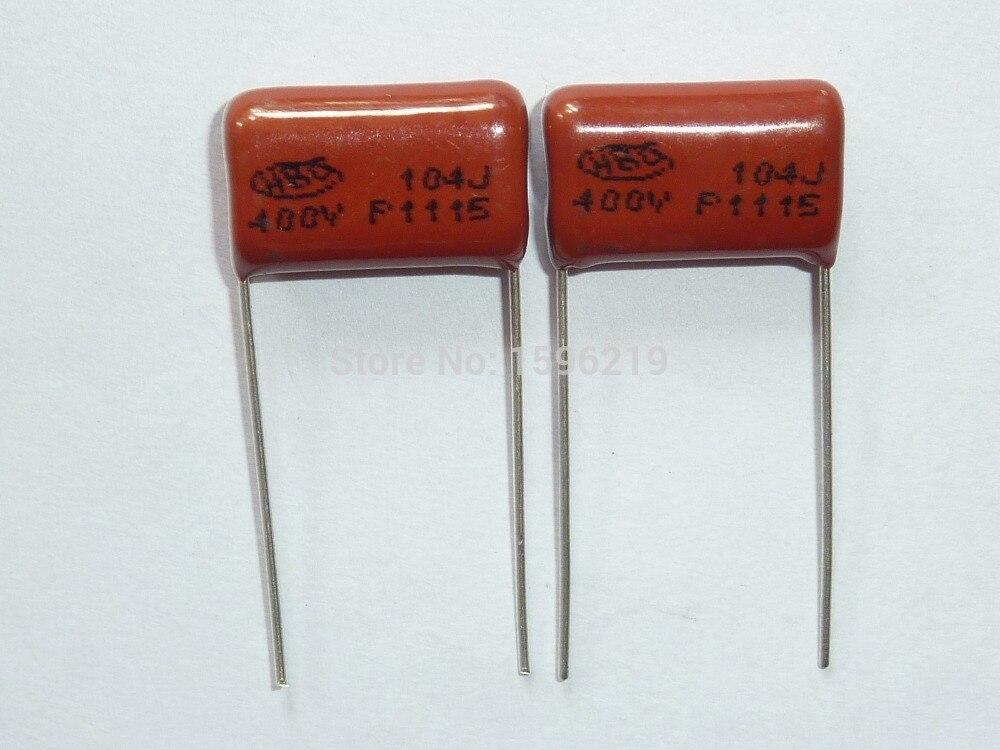 10 x 0.1uF 400V Metallised Polyester Film Capacitor /±10/% Pack of 10