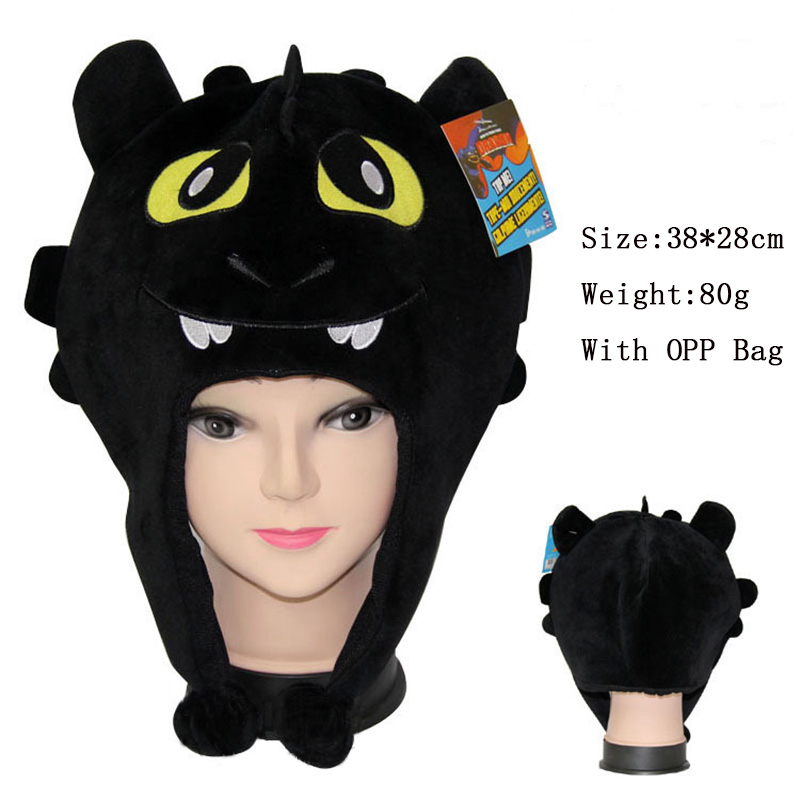 Anime How To Train Your Dragon Plush Cap Toothless Hat Cosplay Hat Halloween Hat Warm Cotton Cap Cosplay Props