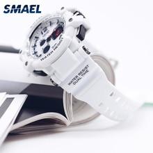 Sport Watch SMAEL Watches Men 50M Waterproof White SShock Wa