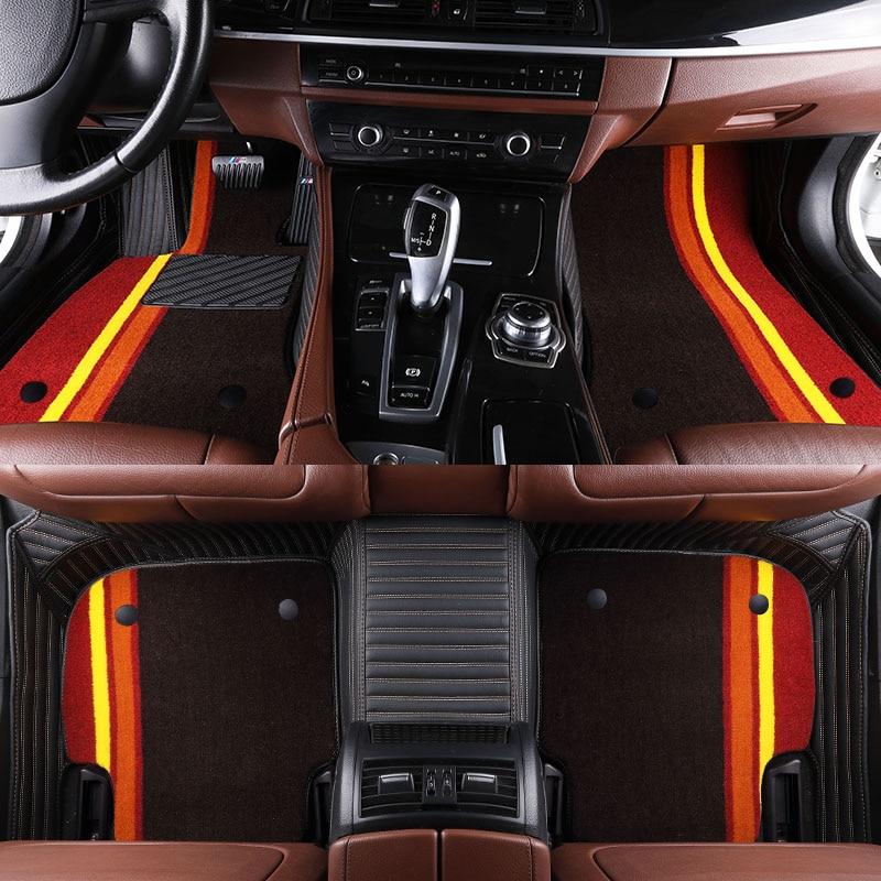 Custom Car Floor Mats for Chrysler 300C 2009 2010 2014 PT Cruiser 2007 2009 Car Styling Interior Floor Carpets Auto Rugs J229