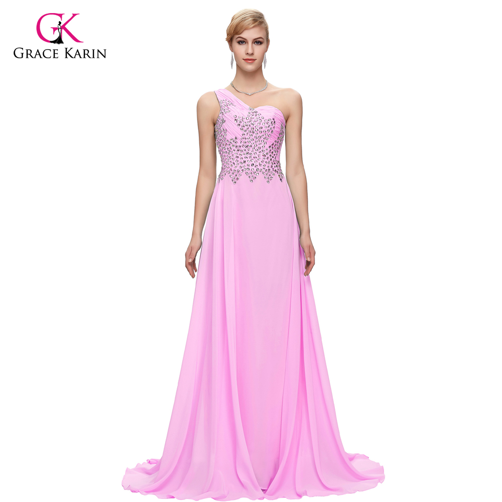 Grace Karin Long elegant Evening Dresses beaded Gowns 2017 One ...