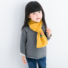 Korean version of the lovely rainbow bean wool children's scarf men and women baby scarves thicker models in winter optionalS107
