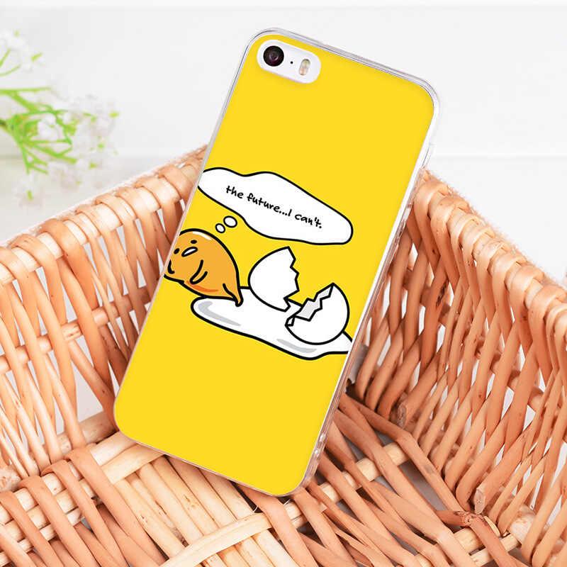 MaiYaCa חמוד יפה gudetama עצלן ביצת חידוש Fundas מקרה טלפון כיסוי עבור iphone 11 פרו 8 7 6 6S בתוספת X 5 5S SE XS XR XSMAX