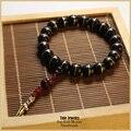 Budista tibetano oração malas de coco S925 prata antigo charme estiramento pulseira para homens mulheres único de jóias