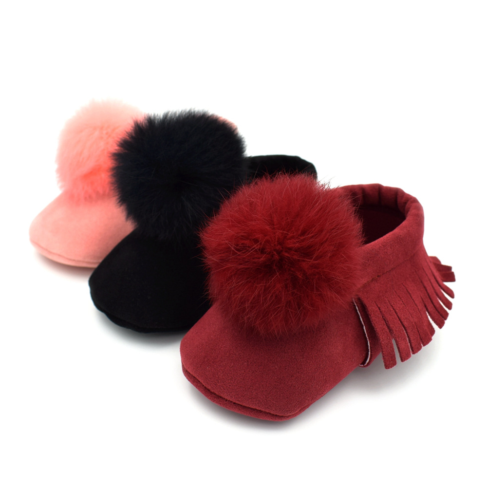 2018 New Ball Style Fashion Pu Suede Leather Baby Moccasins Shoes Baby Boys Girls Shoes First Walkers Soft Sole 0-18M