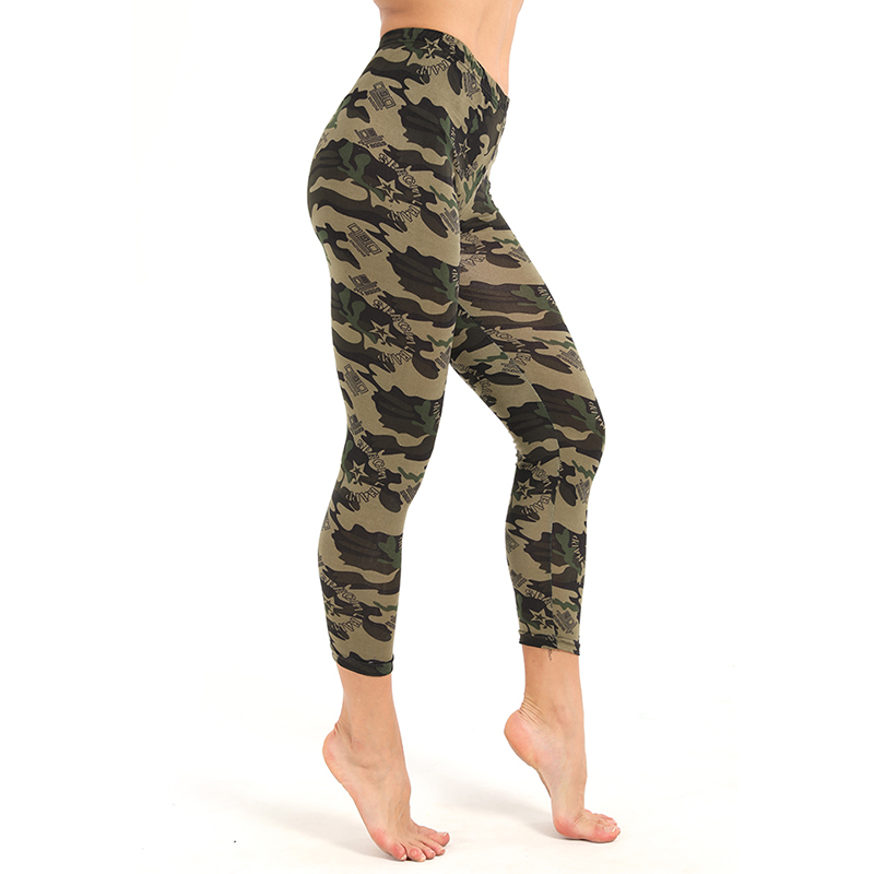 Women Camouflage   Leggings   Workout Fitness   Leggings   Push Up Camo Printed Sporting   Leggings   Women Skinny Leisure Jegging Pants