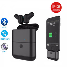 X2 TWS Bluetooth Headset 5.0 Earbuds Wireless Headphones Mini Ear Plug with charging Power Bank In E