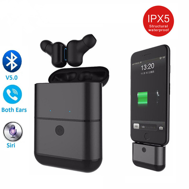 X2 TWS Bluetooth Headset 5.0 Earbuds Wireless Headphones Mini Ear Plug with charging Power Bank In Ear Earphones For iPhone image