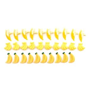 Image 3 - 5 uds resina Artificial Comida en miniatura frutas Banana jugar casa de muñecas de juguete de arte decorativo Kawaii adorno DIY Accesorios