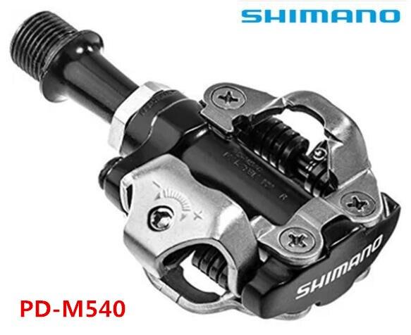 Pédale de blocage de pédale shimano PD-M540 VTT SPD, pédales vtt m540