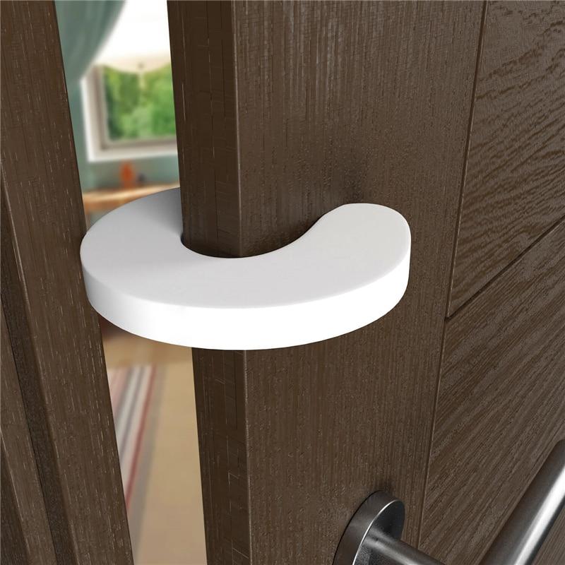 4PCS Door Stops Stopper For Baby Finger Protector Safety Security Children Products Security Infant Doorstop Lock Door Stopper