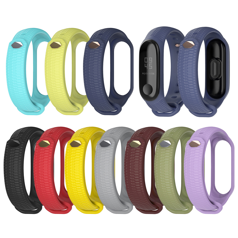 Bracelet Mi-Band Smart-Watch 4-Wrist-Strap Xiaomi Silicone for 4-Sport