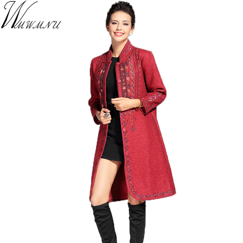 Popular Red Wool Coats-Buy Cheap Red Wool Coats lots from China ...