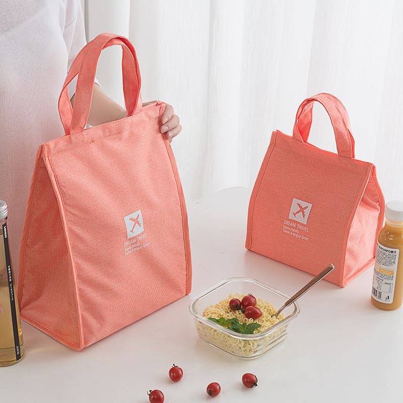 Reusable Thermal Lunch Bag Waterproof Insulated Food Pounch with Handles W2Q2