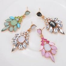Elegant Fresh Jelly Color Crystal Long Dangle Drop Earrings For Women Bridal Wedding Water Drop Earring Jewelry недорого