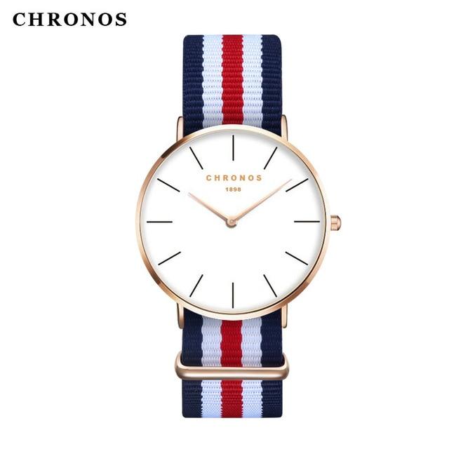 Orologio Uomo Men Women Watches CHRONOS Top Brand Luxury Quartz Watch Clock Relo