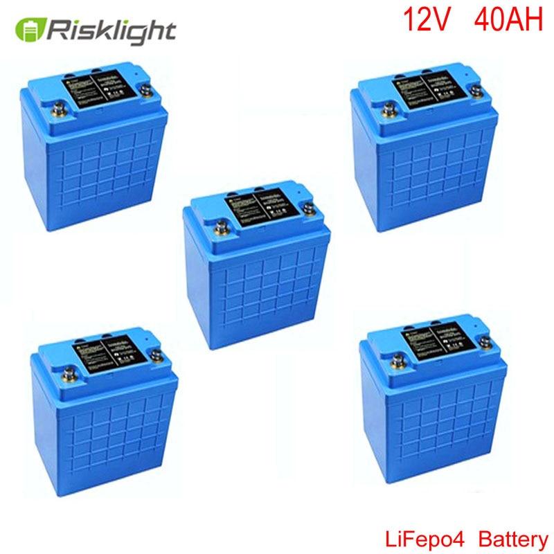 12V 40Ah LiFePO4 battery pack para bicicleta elétrica, baterias da motocicleta, equipamentos elétricos