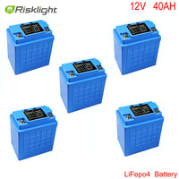 12V 40Ah LiFePO4 Battery Pack For Electric Bicycle Motorcycle Batteries Electrical Equipment