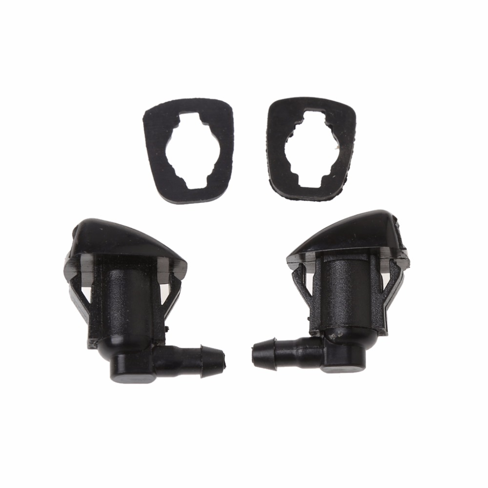 2Pcs Fan Shape Windshield Wiper Washer Jet Nozzle Spray For Toyota E120 Corolla Camry