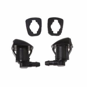 2Pcs Fan Shape Windshield Wiper Washer Jet Nozzle Spray For Toyota E120 Corolla Camry XV30 Car Windshield Accessories New C45(China)