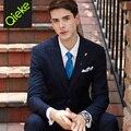 2017 новые поступления марка 50% шерсть высокого качества последнее пальто брюки костюм конструкций человек бизнес господа синий свадебные костюмы для мужчины
