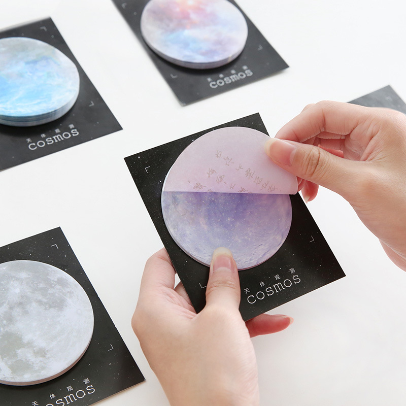 Cheap Sale Mindsteps To The Universe Earth Moon Mars Memo Notepad Notebook Memo Pad Self-adhesive Stationery Sticky Notes Bookmark Buy One Get One Free Notebooks & Writing Pads Memo Pads