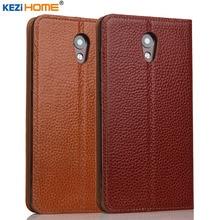 Lenovo Vibe P2 случае kezihome личи Пояса из натуральной кожи Флип Стенд кожаный чехол Капа для Lenovo P2 телефон случаях Coque