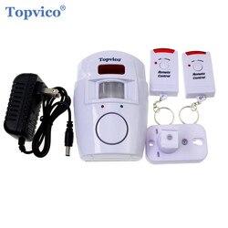Topvico 2pcs Controladores Remotos PIR Detector Infravermelho Sensor De Movimento Sem Fio Da Janela Da Porta Anti-Roubo Sistemas De Alarme De Segurança Em Casa