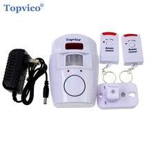 Topvico Wireless PIR Infrared Motion Sensor Detector 2pcs Remote Controllers Door Window
