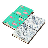 Kicute Vintage Design Lovely Cartoon DIY Notebook Leather Bound Travel Journal Diary Planner Agenda Gifts Office
