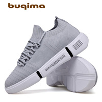 Buqima Sports Flying weaving Mesh Shoes Laces Air permeable Tennis Shoes Men's Leisure Shoes Fashion Outdoor Walking Shoes Male