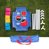 1 Set Cornhole Boards With 6 Bean Bags Outdoors Children Entertainments Playground Sandbags Sports Set For Kids2