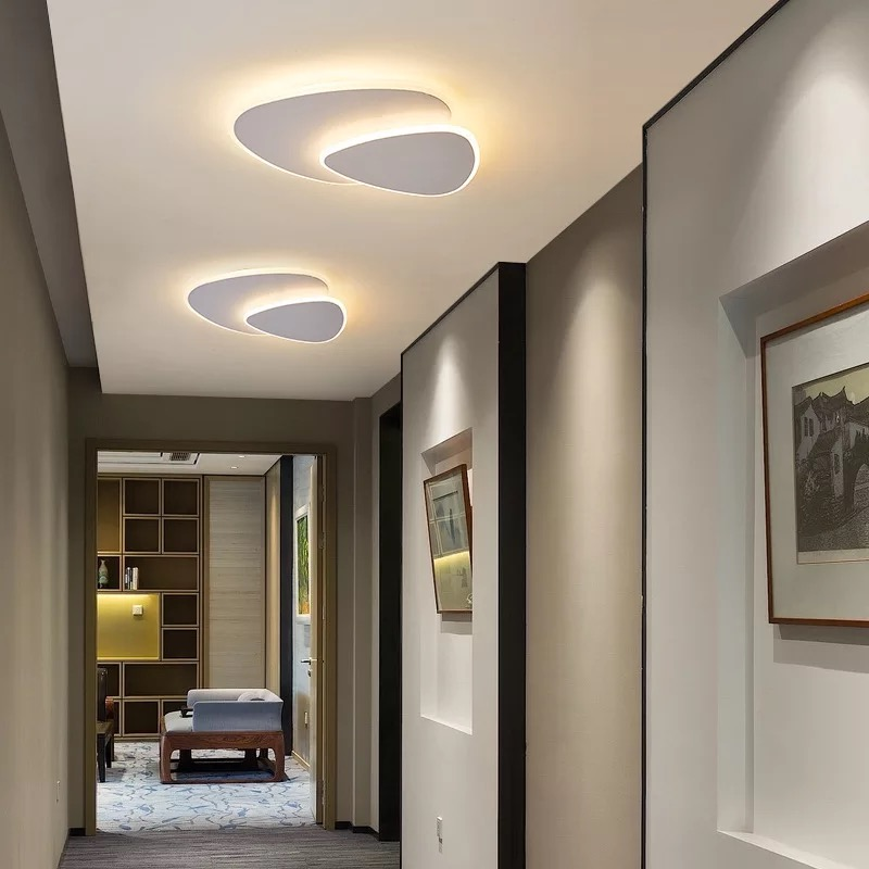 Modern Two Layers Led Ceiling Lights White/Coffee Body Surface Mount For Aisle Parlor Bedroom Restaurant Kitchen Ceiling Lamp
