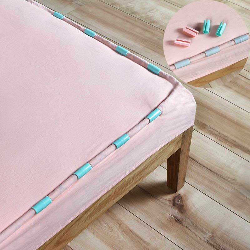 12 Pcs/Set Blankets Bed Sheet Clip Practical ABS Mattress Grippers Fasteners Clothes Pegs Coverlet Holder Slip-Resistant
