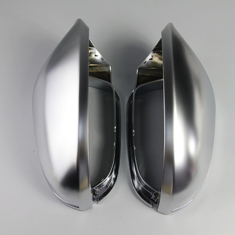 ABS Matt Chromed Side Door Mirror Wing Mirror Cover Replacement Without Lane Assist For A6 S6 C7 4G 2013 2014 2015 2016 S Style