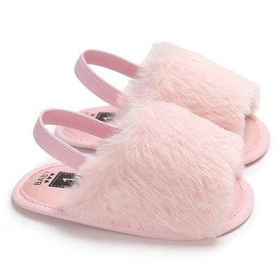 Cute Newborn Baby Girl Plush Soft Sole Crib Shoes Faux Fur Slippers Gift AU