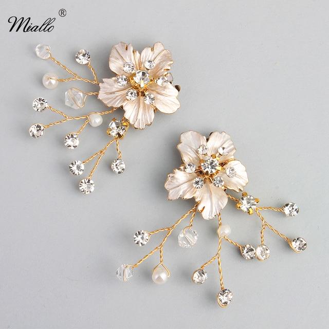 Miallo Fashion Shoe Clips Rhinestone Wedding Bridal Sandal Boots Buckle Diamante Clip Pair Decorations
