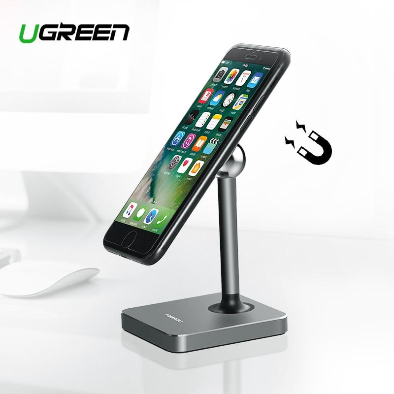 Ugreen tableta magnética imán titular del teléfono celular soporte de escritorio para iPhone 8 iPad Samsung Galaxy S9 teléfono titular