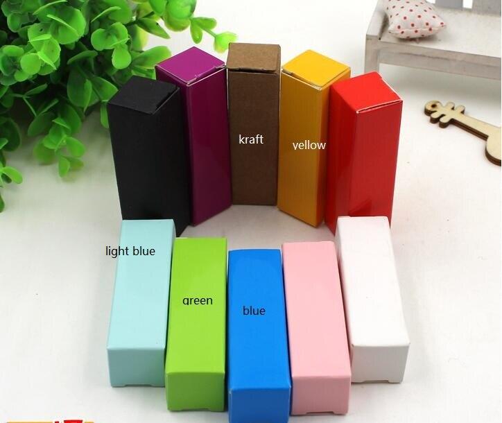 Крафт-бумага лак для ногтей бутылок, косметическая коробка упаковки, помада посылка бумажная коробка, пользовательские помады ящики