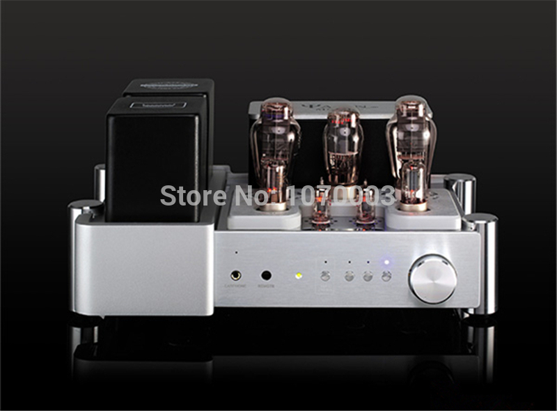 цена на K-023 YAQIN MC-300C Integrated Vacuum Tube Amplifier class A single-ended amplifier 300Bx2 8.5Wx2 Earphone amplifie 110V/220V